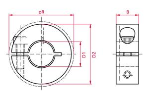 Shaft Collars - slotted