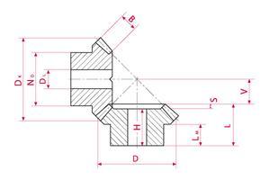 Bevel Gears - Type B - Ratio 1:3