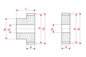 Spur Gears - Plastic - Module 1