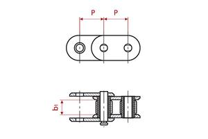 Roller Chains - ISO Simplex - straight tabs
