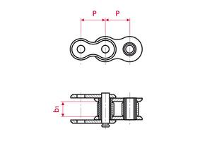 Roller Chains - ISO Simp. - galvanically nickeled