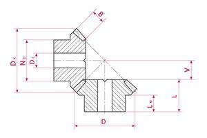 Bevel Gears - Type B - Ratio 1:1