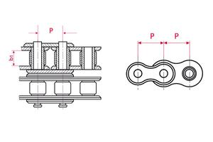 Roller Chains - ISO Duplex - galvanically nickeled