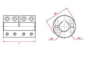 Rigid Couplings - Flex - split - Stainless steel