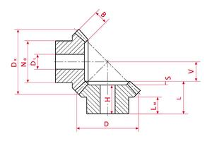 Bevel Gears - Type A - Ratio 1:3