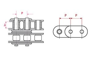 Roller Chains - ISO Duplex - straight tabs