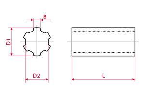 Splined Shafts & Sleeves - Standard
