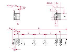 Racks - helical cut - C45