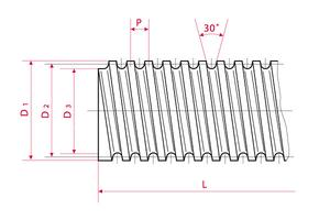 Trapezoidal Threaded Spindle - one-start right
