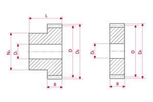 Spur Gears - Stainless steel - Module 1,5